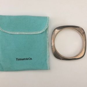 Tiffany & Co. Sterling Silver Square Bangle